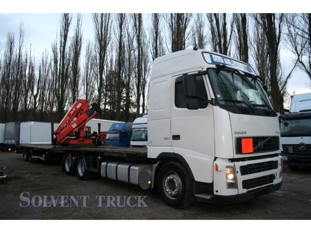 Volvo FH 12.420 Hydraulická ruka Atlas + Přívěs Alcar Sommer